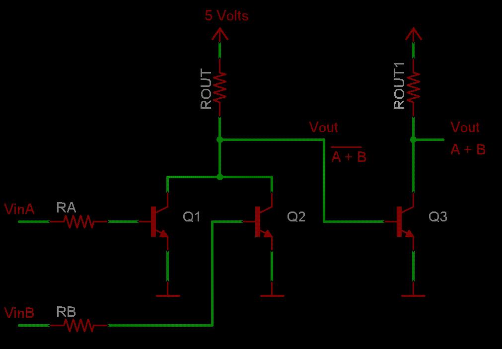 Practica iii circuitos l gicos con transistores for Puerta xor de tres entradas